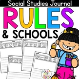 NO PREP Social Studies Writing Journal - Rules and Schools