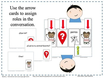 NO PREP Spanish & English Conversation Mats with Response Cards