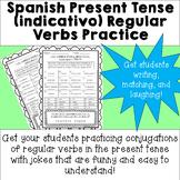 NO PREP Spanish Present Tense (indicativo) Regular Verbs P