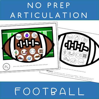 NO PREP Speech Articulation Therapy Activities FOOTBALL