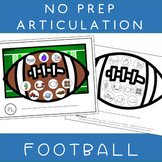 NO PREP Speech Articulation Therapy FOOTBALL - SUPER BOWL
