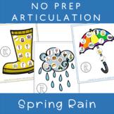 NO PREP Speech Articulation Therapy SPRING RAIN