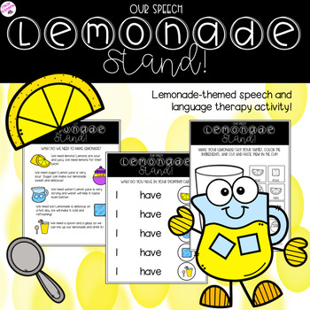 NO PREP Speech Lemonade Stand Activity!