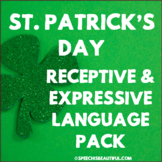 NO PREP Speech Therapy - Rec & Exp Language Pack - St Patr
