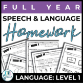 NO PREP Speech and Language Homework - Full Year - Languag