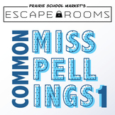 NO PREP Spelling Escape Room - Commonly Misspelled Words 3rd 4th 5th Grade