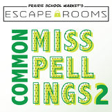 NO PREP Spelling Escape Room Game - Commonly Misspelled Words 3rd 4th 5th Grade