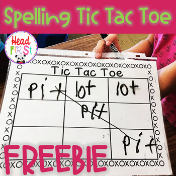 NO PREP Spelling Word Tic Tac Toe FREEBIE