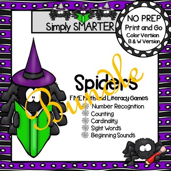 NO PREP Spider Games Bundle