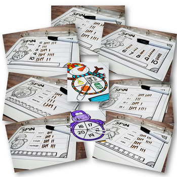 NO PREP Spin It! YEARLONG Differentiated Math Centers MEGA BUNDLE {TEKS}