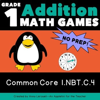 NO PREP 1st Grade Addition Spin to Win Games