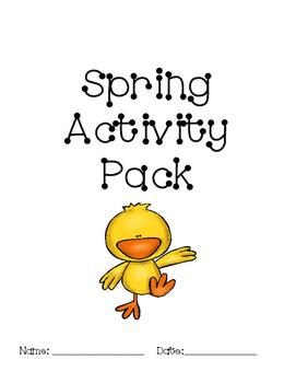 NO PREP Spring Activity Pack