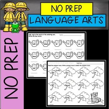 SPRING NO PREP Language Arts Printables