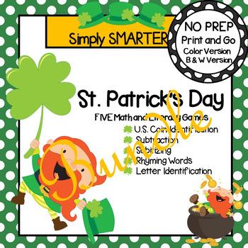 NO PREP St. Patrick's Day Games Bundle