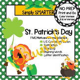 NO PREP St. Patrick's Day Themed Math and Literacy Games Bundle