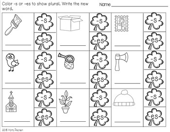 ST. PATRICK'S DAY NO PREP Language Arts Printables