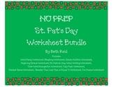 NO PREP St. Patrick's Day Worksheet Bundle