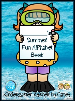 NO PREP Summer Fun Alphabet Book Handwriting Writing Pre K Kindergarten 1st