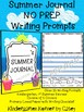 NO PREP Summer Journal - 25 Writing Prompts Print and Go!