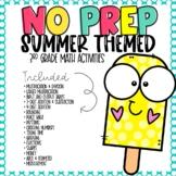 NO PREP Summer Math Worksheets for 3rd Grade
