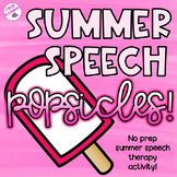 NO PREP Summer Speech Therapy Popsicles!