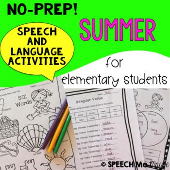 NO-PREP! Summer Speech and Language Activities