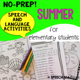 NO-PREP! Summer Speech and Language Activities
