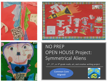 NO PREP  Symmetrical Alien Math and Writing Project! OPEN HOUSE!