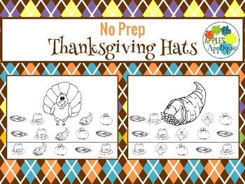 NO PREP Thanksgiving Hats
