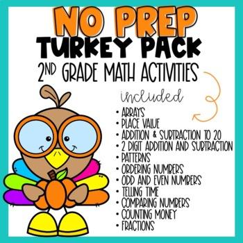 Thanksgiving Math Worksheets 2nd Grade Teachers Pay Teachers