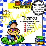 NO PREP Thematic Math and Literacy Games Year Long MEGA Bundle