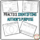 Author's Purpose Worksheets & Printables