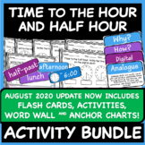 NO PREP | Time to the Hour and Time to the Half Hour | Worksheet BUNDLE