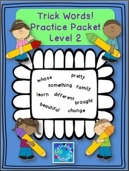 NO PREP!!! Trick Words Practice Packet ~ Level Two