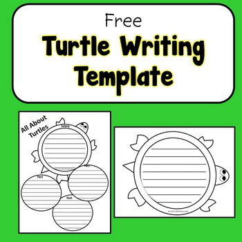 NO PREP 1st or 2nd grade Science Turtle Writing Template
