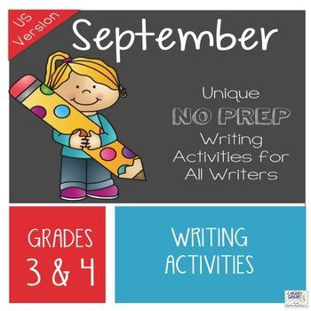 September NO PREP Unique Writing Activities - US Version