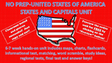 States and Capitals NO PREP BUNDLE United States of America (USA)