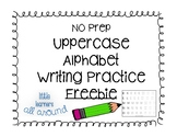 NO PREP Uppercase Alphabet Letter Writing FREEBIE