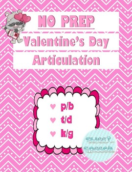 NO PREP Valentine's Day Articulation - Stop Sounds