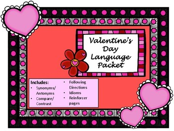 NO PREP Valentine's Day Language Packet