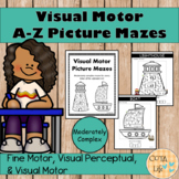 Visual Motor Alphabet Picture Mazes - Moderately Complex Version