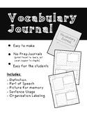 NO PREP Vocabulary Journal Booklet
