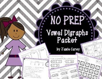 NO PREP Vowel Digraphs Packet