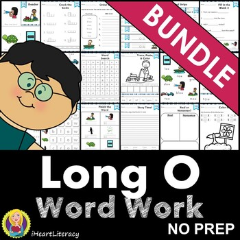 Word Work Long O Bundle NO PREP