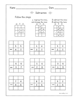 NO PREP WORKSHEETS 2 DIGITS ADDITION & SUBTRACTION with REGROUPING