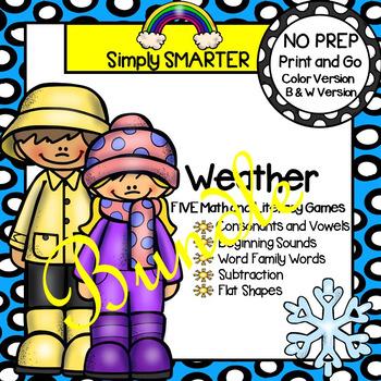 NO PREP Weather Games Bundle