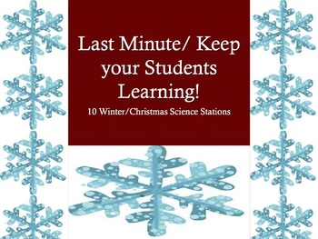 NO PREP Winter or Christmas Science Stations Activity (10 Stations)