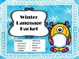 NO PREP Winter Language Packet