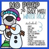 NO PREP Winter Math Worksheets for 2nd Grade