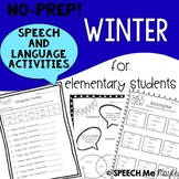 NO-PREP Winter Speech and Language Activities